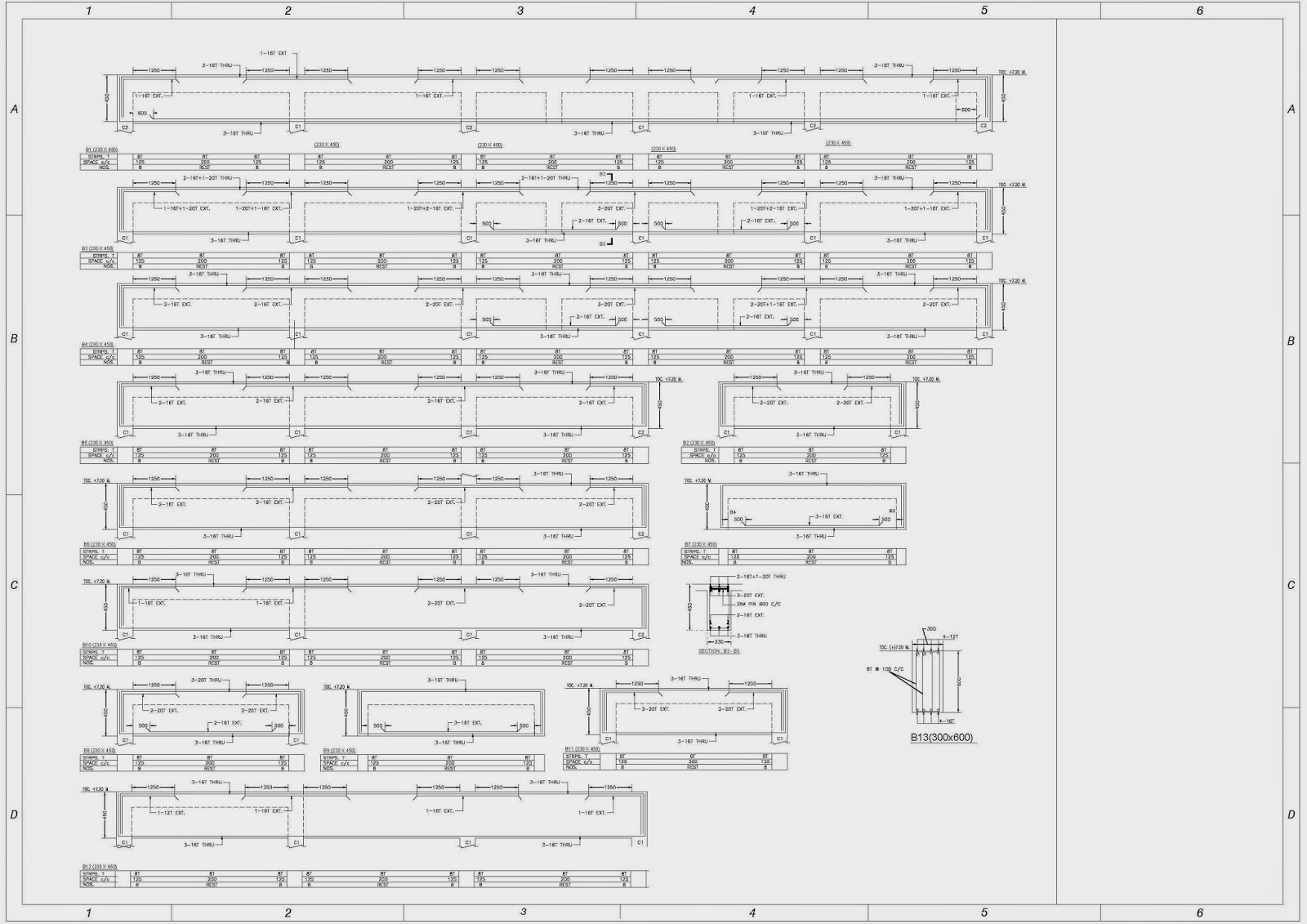 Structural Drawings in AutoCAD