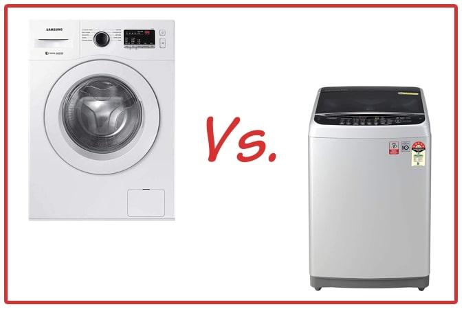 Samsung WW65R20GLSW/TL (left) and LG T80SJSF1Z (right) Washing Machine Comparison.