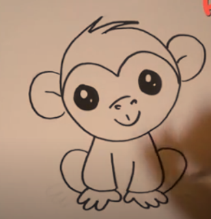 How to Draw a Monkey for kids step by stepHow to Draw a Monkey for kids step by step