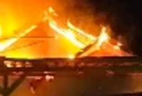 "Kebakaran di Puncak Jatiwangi, Rumah ""Tarsan"" Ludes Dilahap Si Jago Merah"