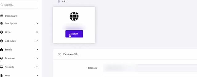 how to install free ssl on hostinger
