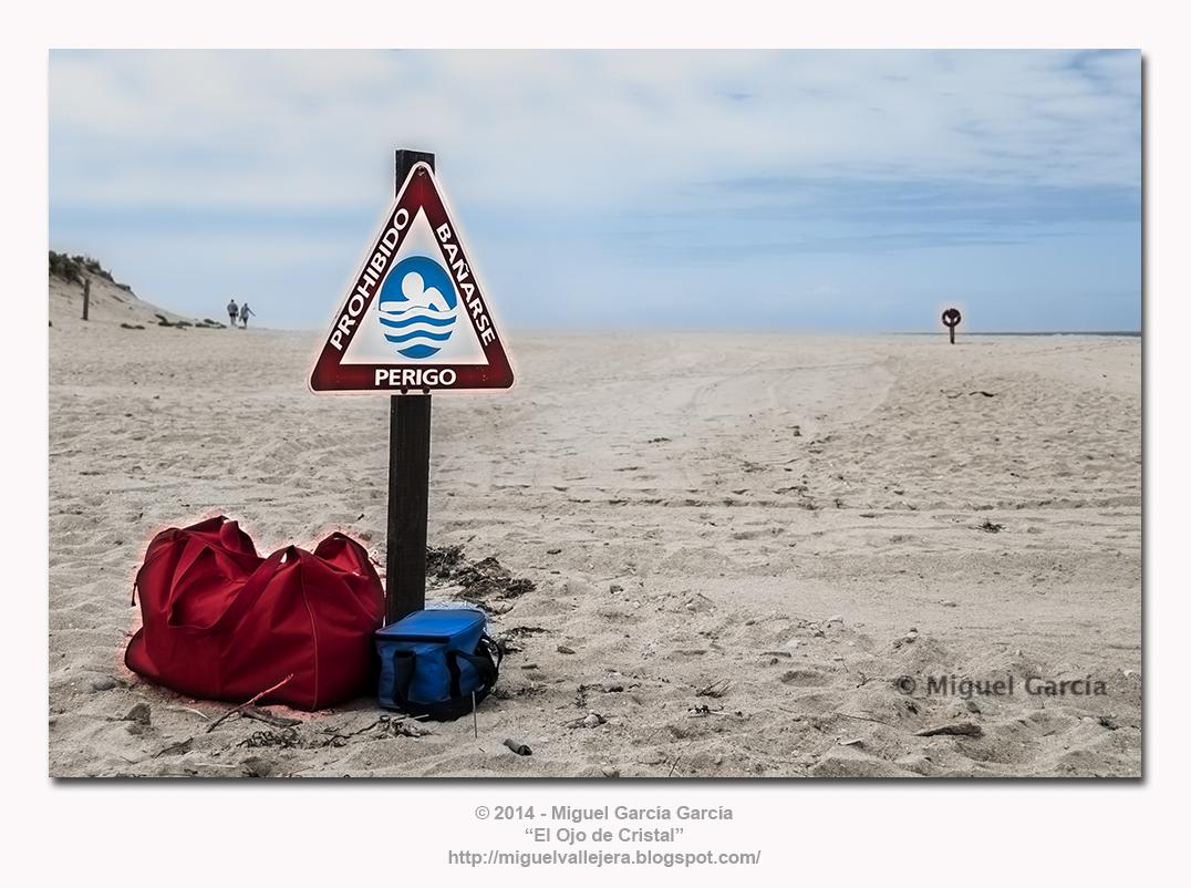 Prohibido Bañarse. Playa de Baldaio.