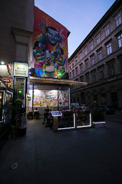 Murales nel quartiere ebraico-Budapest