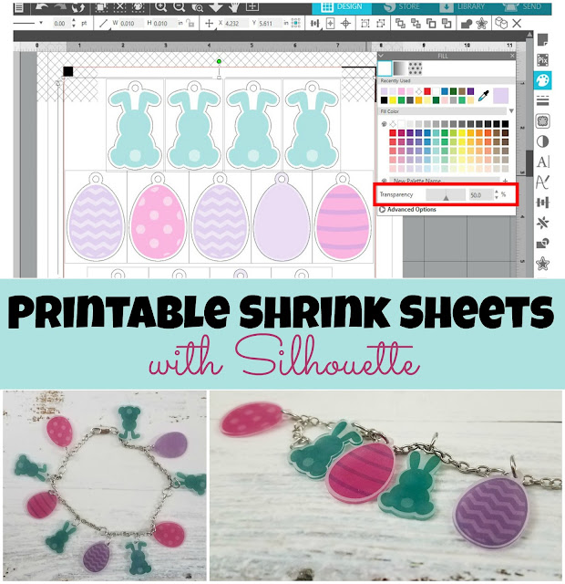 Silhouette 101, Silhouette America Blog, Printable, Shrink Sheets, Jewelry