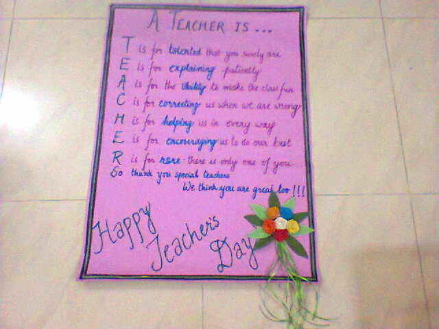Teachers day chart also creativity cooking and crafts july rh craftsandcostumesbylizspot