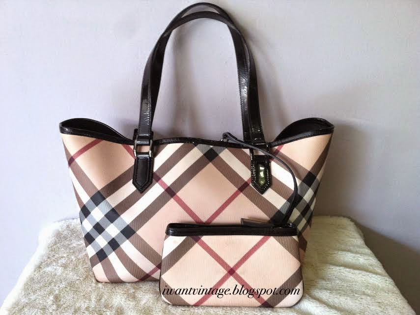 Burberry Small Nova Check Tote-Black b3bf93f9edd50