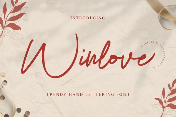 Winlove Elegant Handwritten Font