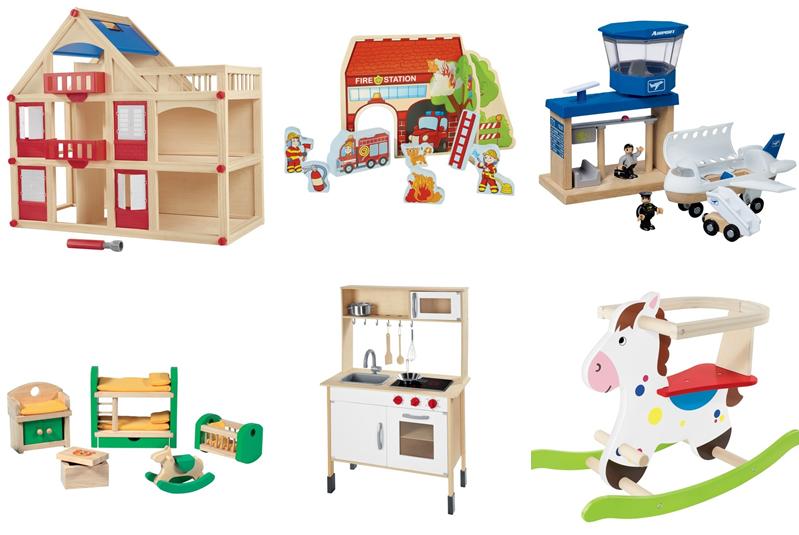 Retromoderna Drewniane Zabawki W Lidlu