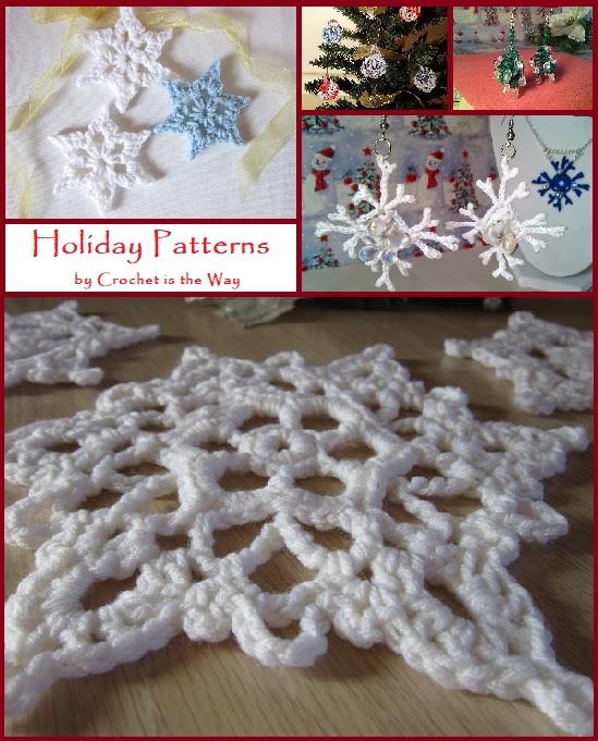 snowflake, winter, Christmas, holiday, free crochet pattern,