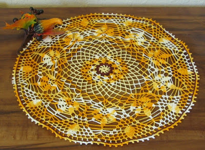 Celebrating Autumn Centerpiece Crochet Art