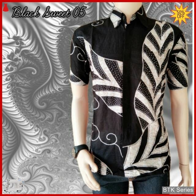 BTK130 Baju Hem Black Sweet 05 Modis Murah BMGShop