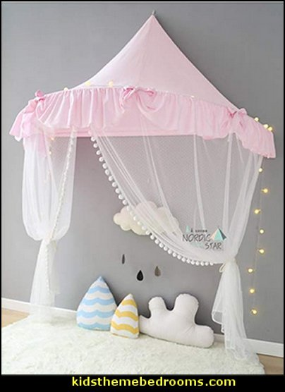 Children Play Tent Indoor Dome Princess Castle, Cute Round Mosquito Net, Wall Hanging Bed Canopy