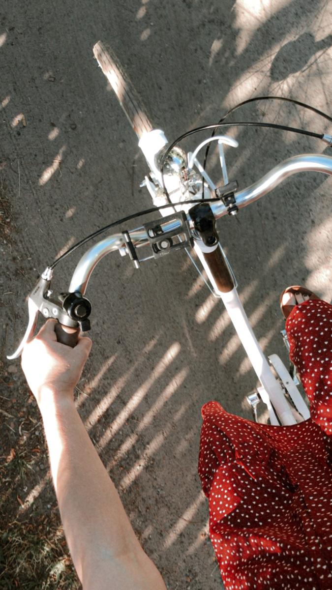 w ciąży na rowerze