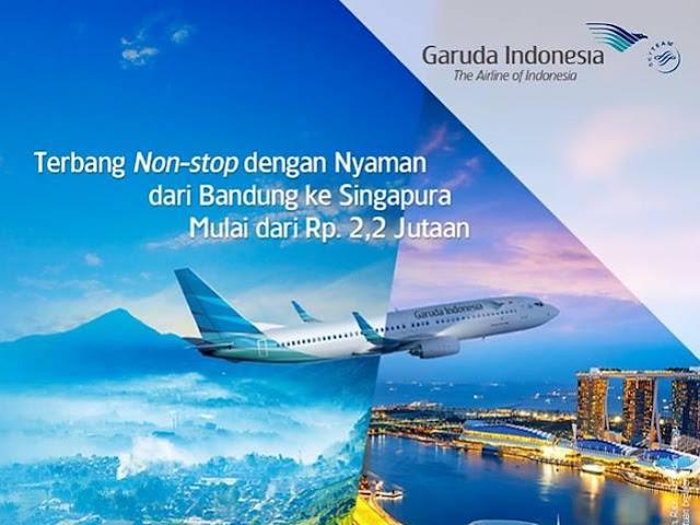 Jadwal Penerbangan Garuda Indonesia Rute Bandung - Singapura