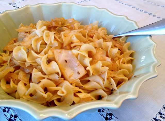 Noodles with Cabbage & Caraway