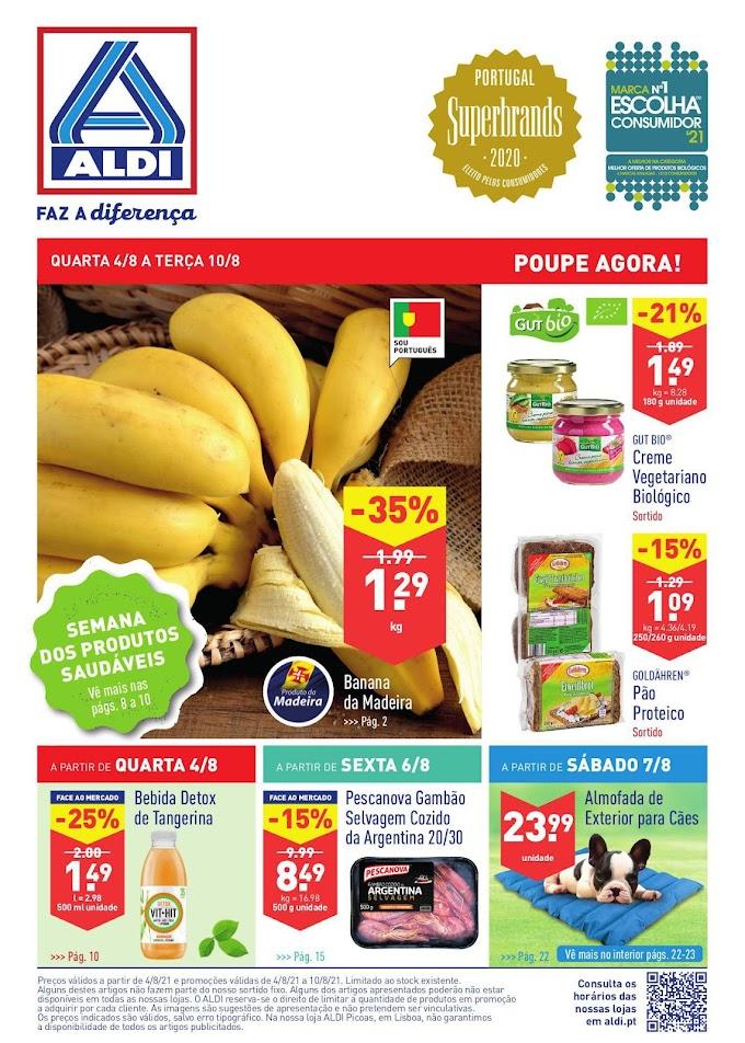 Folheto ALDI com Promoções de 04 a 10 de Agosto