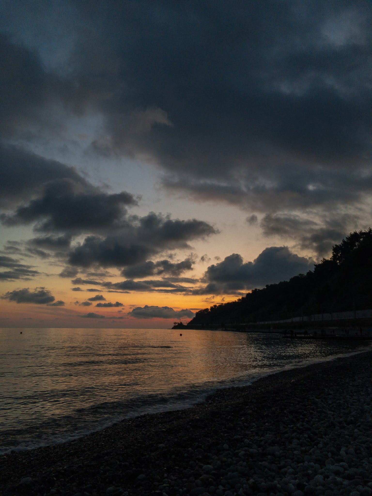 Dagomys beach sunset evening Sochi photo Igor Novik