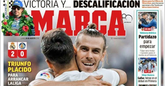 Real Madrid 2-0 Getafe: Portadas de Marca y As