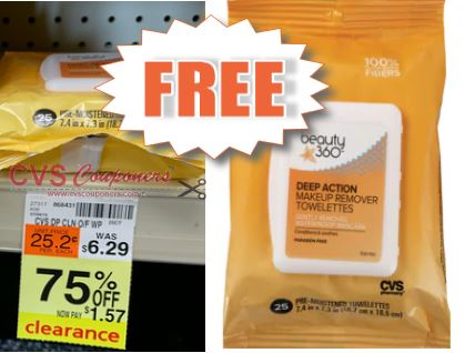 FREE Beauty 360 Wipes CVS Deal