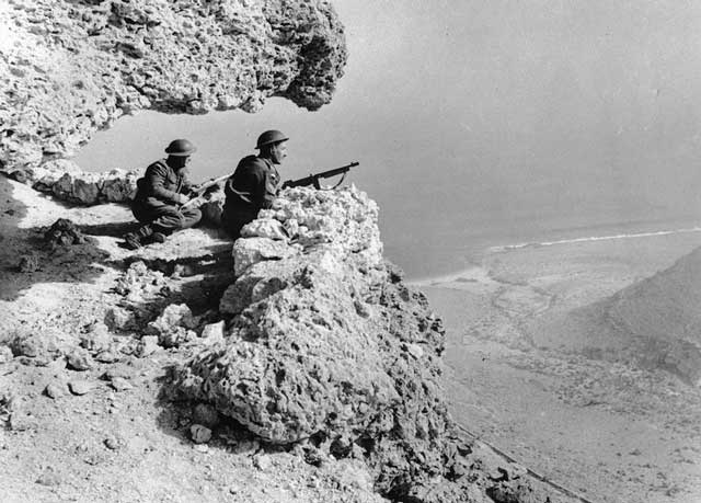 British soldiers on patrol in the Western Desert, 26 February 1942 worldwartwo.filminspector.com