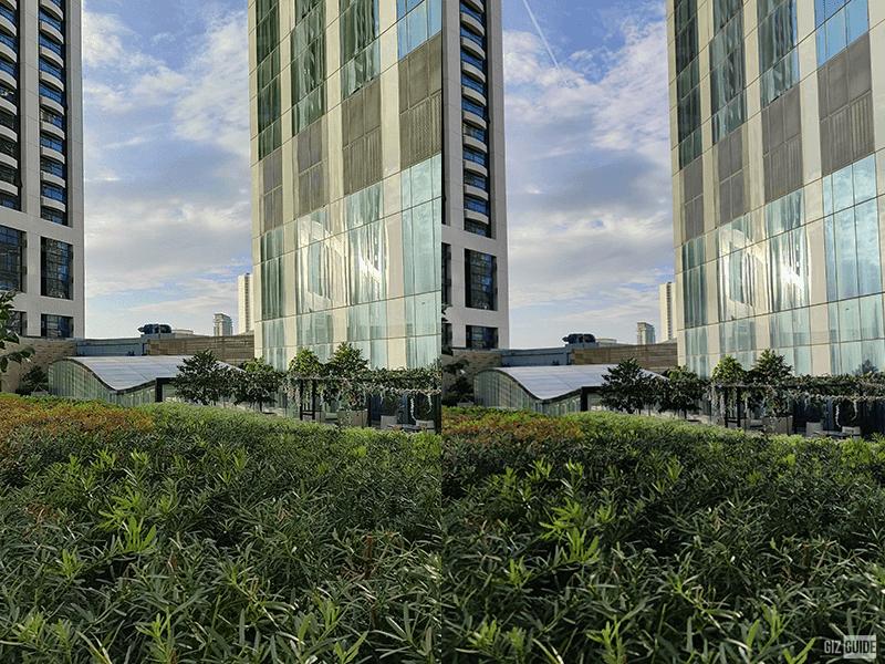 Daylight OPPO Reno5 5G (left) vs Xiaomi Mi 10T Pro (right)