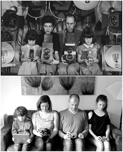 Halsman i jego fotografująca rodzina inspiracją dla mojej rodziny