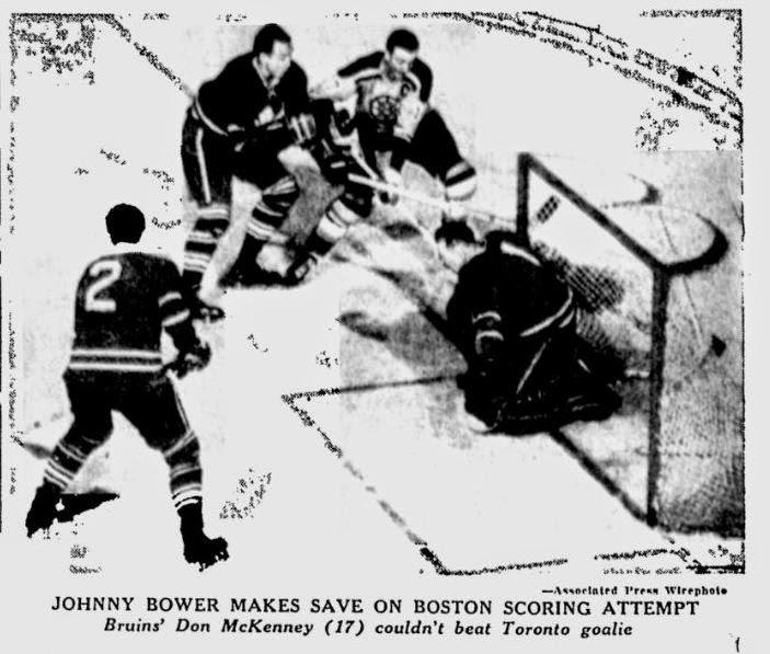 Nitzy's Hockey Den: Johnny Bower Cyber-Scrapbook