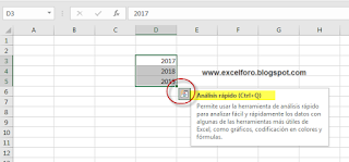 Habilitar el Análisis Rápido en Excel 2013 y 2016