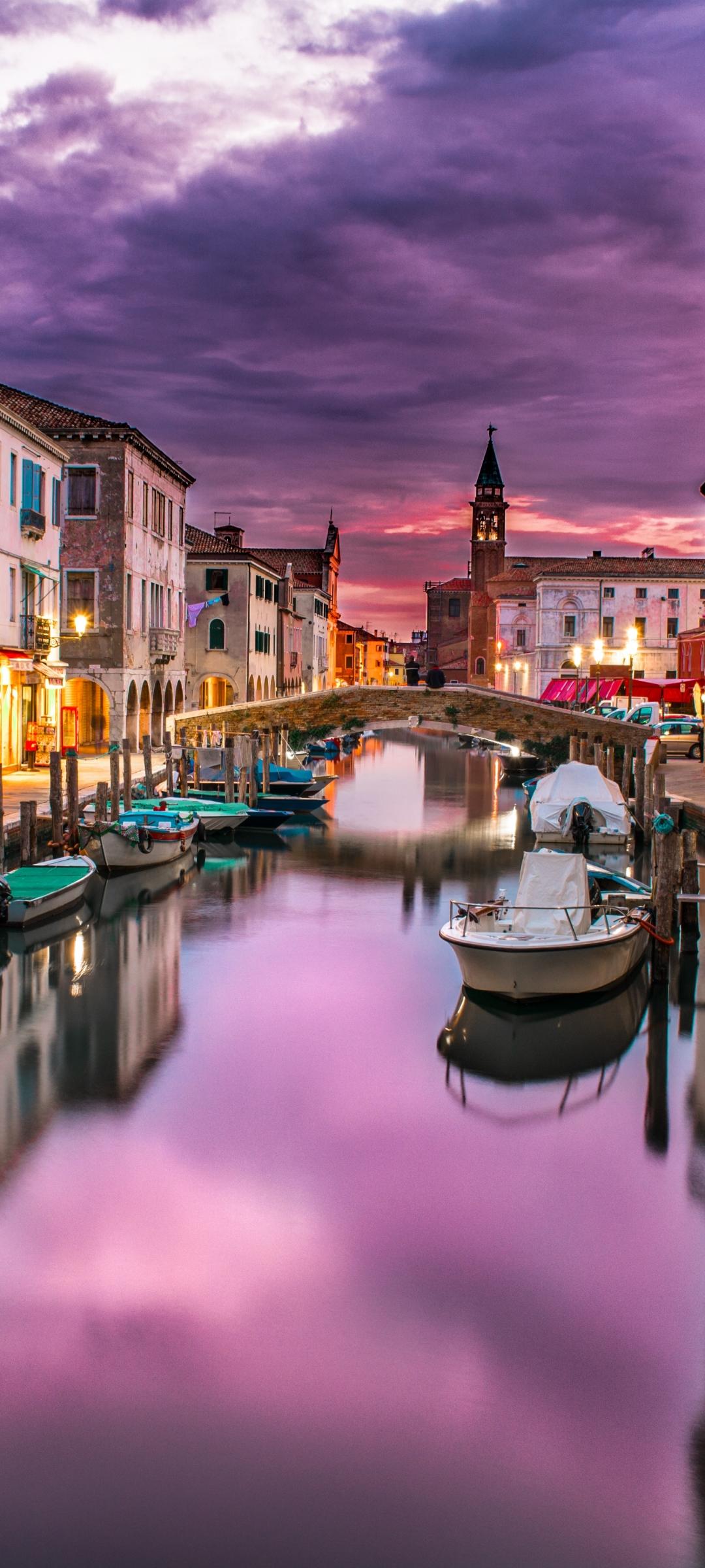 Sunset over Venice mobile wallpaper