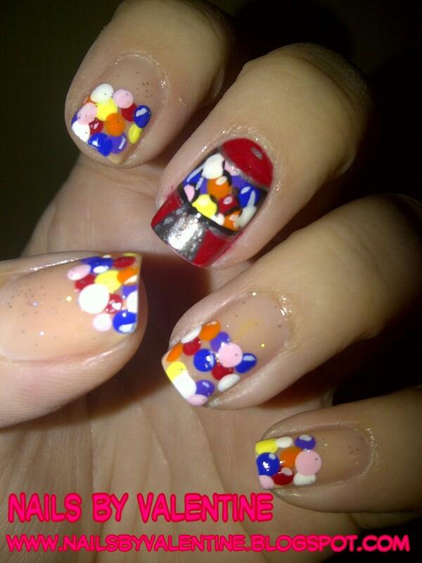 Bubble Nails: Nails By Valentine: Bubble Gum Nails