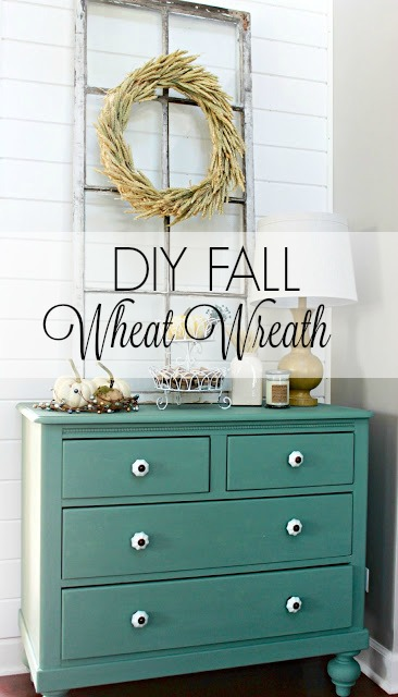 diy wheat wreath fall