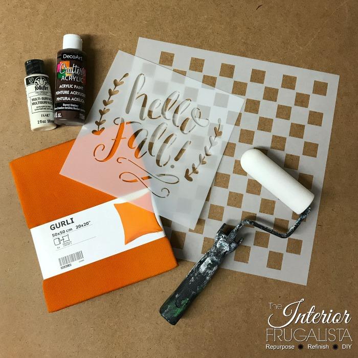 DIY Checkered Fall PIllows Supplies