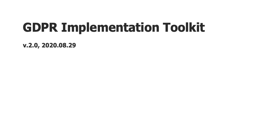GDPR Implementation Toolkit 2.0