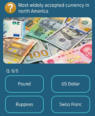 Pound US Dollar Ruppees Swiss Franc  Daily My Telenor Quiz 5 Questions you have select answers from giving 4 Quiz options.