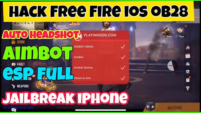 Hack free fire ob28 iOS auto headshot esp full aimbot jailbreak iPhone