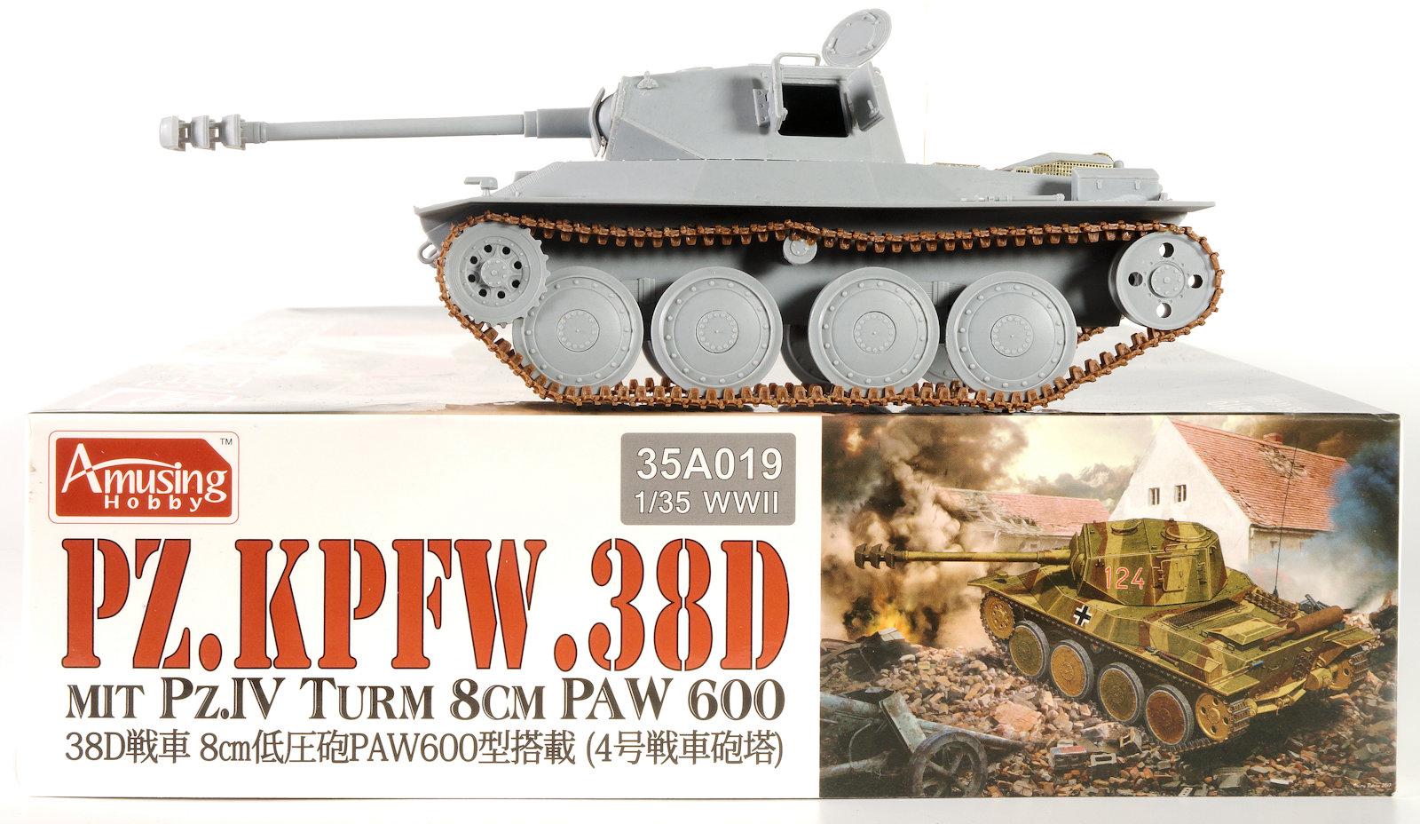 The Modelling News: Build Guide:Pz Kpfw 38D mitt PZ IV turm