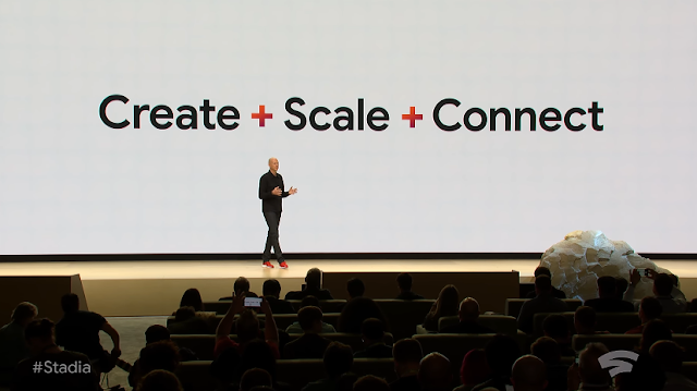 Google Stadia Create Scale Connect plus + Game Developers Conference