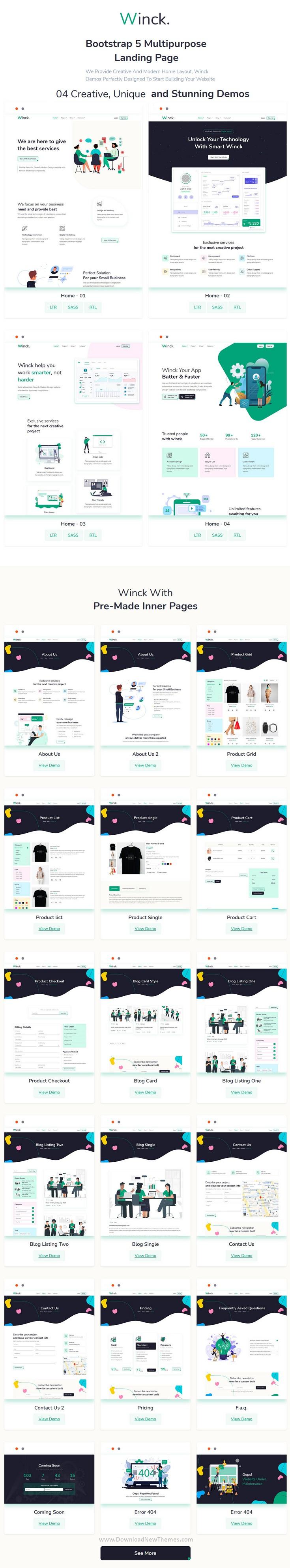 Bootstrap 5 Multipurpose Landing Page