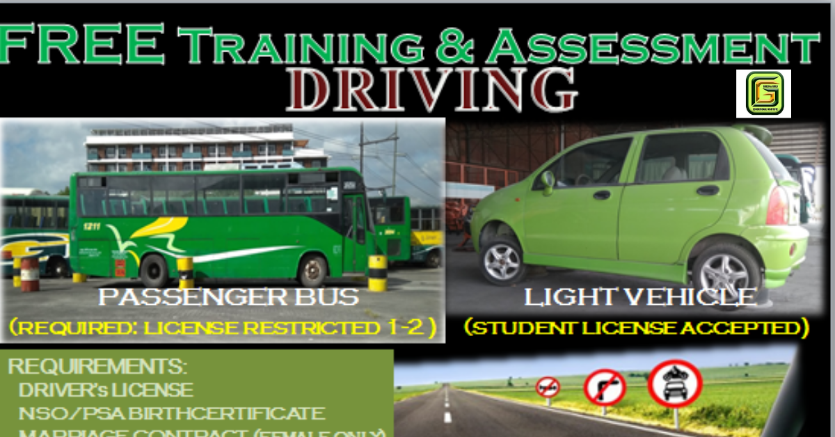 Driving NC II (Free Training & Assessment) | Enroll Now!