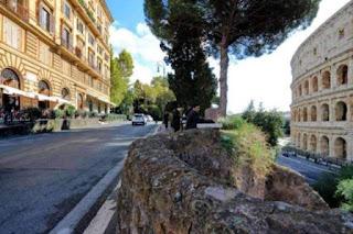 The Via Nicola Salvi in Rome skirts the Colosseum
