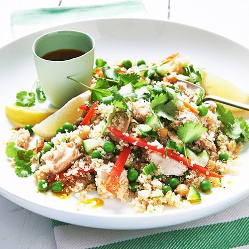 Moroccan spiced salmon and quinoa salad