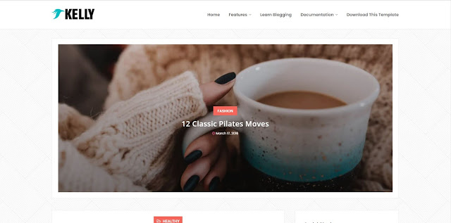 Kelly free blogger template