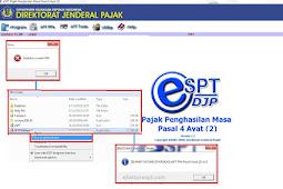 Error eSPT : Unable To Create DSN. Aplikasi eSPT PPh Pasal 4 Ayat 2