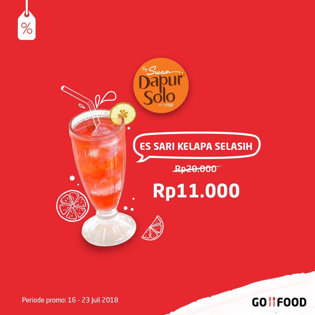 GO JEK - Promo GO FOOD Dapur Solo Es Sari Selasih Cum1 11 Ribu