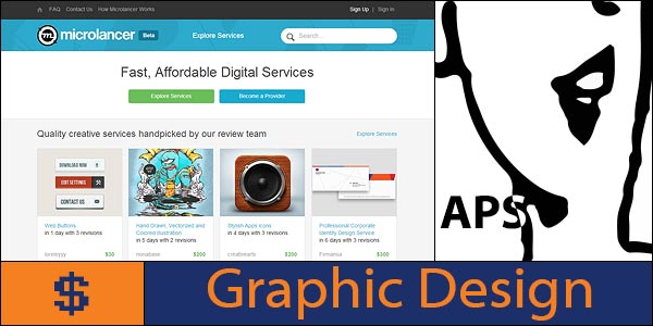 Sell graphic design and Adobe software skills on Microlancer