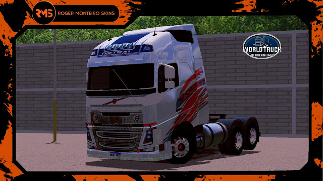 Volvo FH Globetrotter Distral, Roger Monteiro Skins, Skins Volvo FH