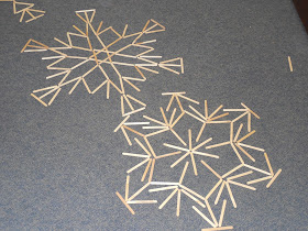 Snowflake angles at Family STEAM Night