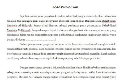 Contoh Kata Pengantar Proposal Pengajuan CSR Bank Indonesia