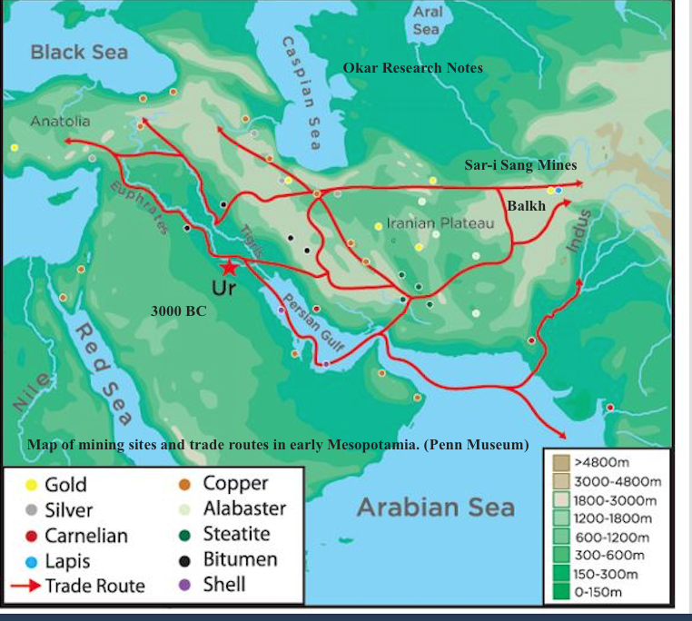 Ancient Egypt Trade Afghanistan