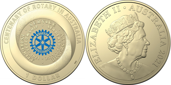 Australia 1 dollar 2021 - Centenary of Rotary